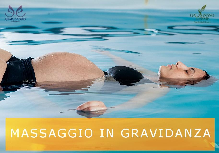 un trattamento ottimo per i benefici che questo porta alle future mamma: Acquore il massaggio in acqua termale.