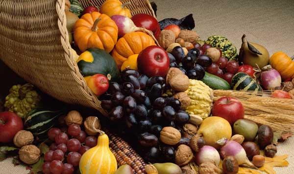 la frutta e la verdura per il mese di ottobre